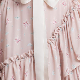 Powder pink off shoulder layered maxi dress 5