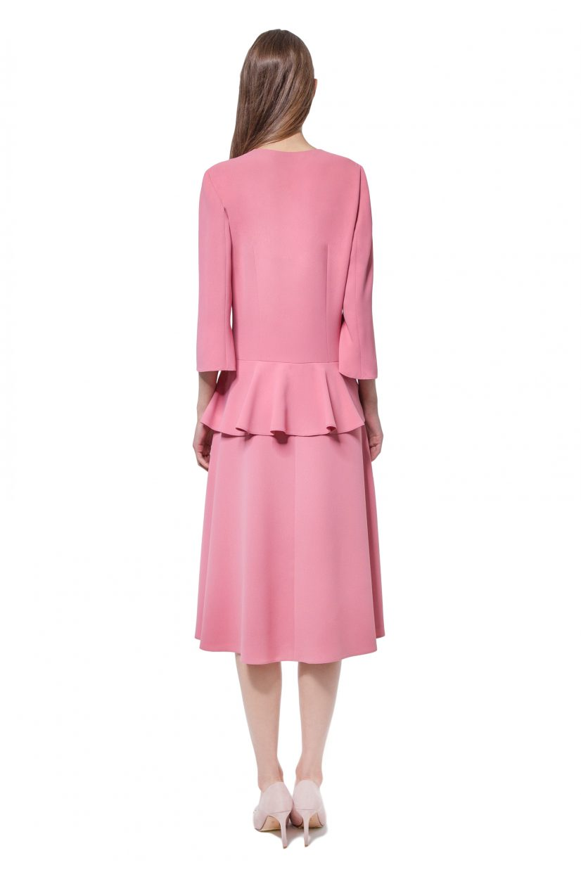 Pink dress with basque and sleeves