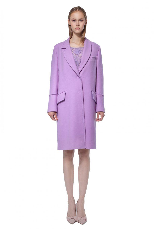 Lilac woolen coat