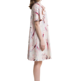 Pastel look A-line mini dress with ruffles 3