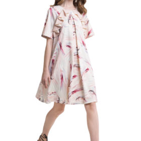 Pastel look A-line mini dress with ruffles 4