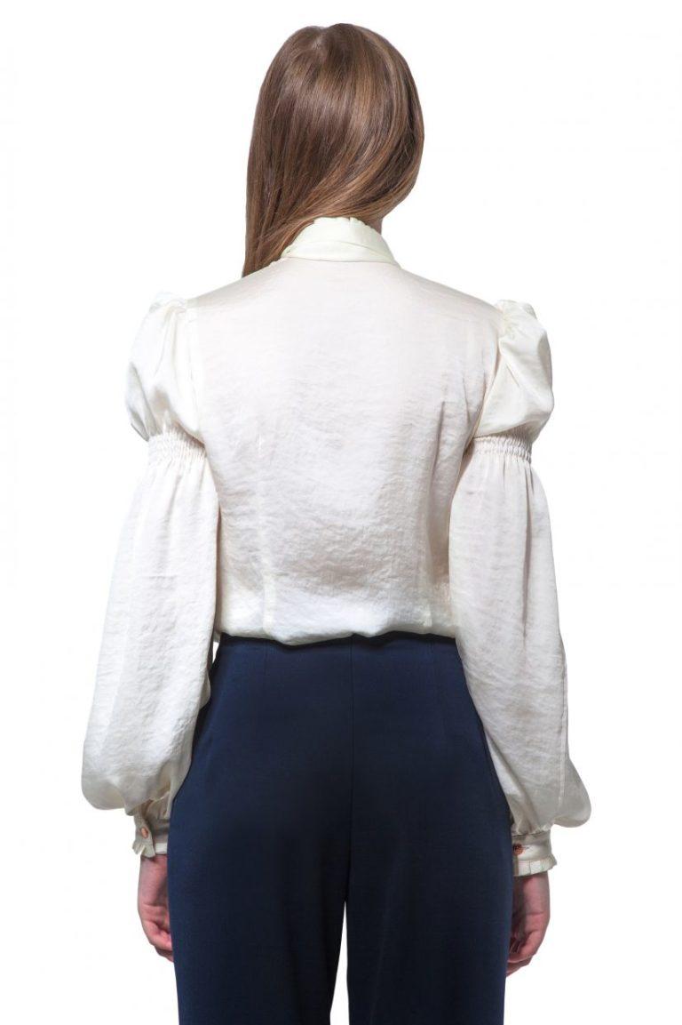 Cream silk blouse