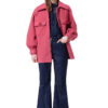 ROSIE boiled wool jacketin raspberry pink by DIANA ARNO.