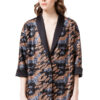 JULIE sequin jacket in grey and bronze camouflage by DIANA ARNO.