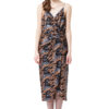 CARINA sequin midi dress in grey and bronze by DIANA ARNO.
