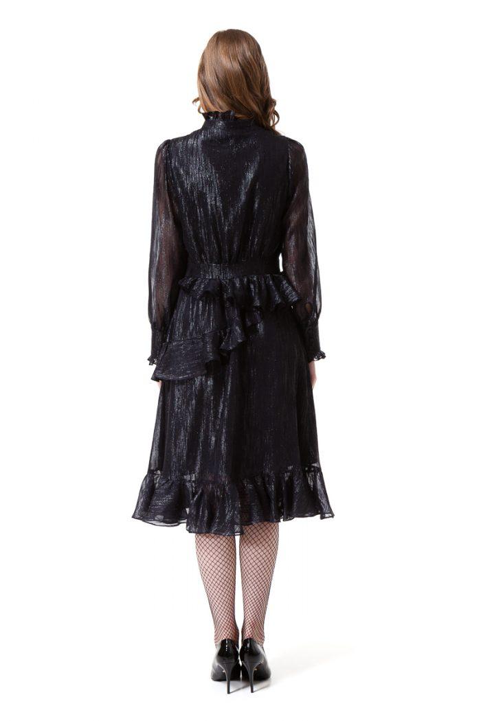 EDEN long sleeve dress in midnight black by DIANA ARNO.