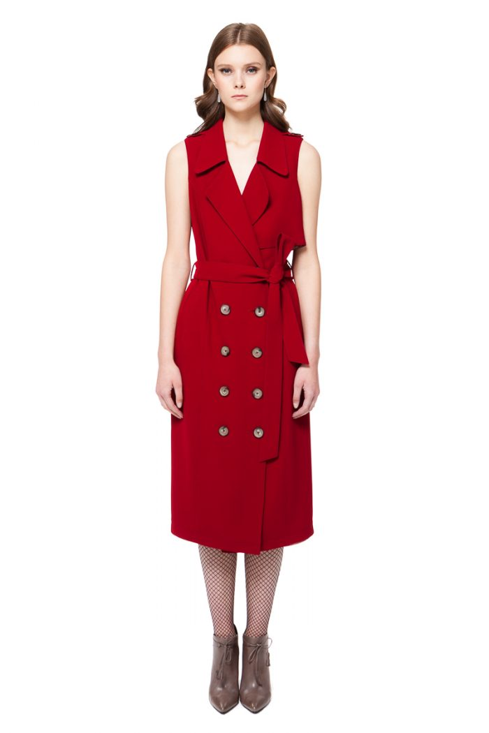 TILDA trench dress with two side pockets and a belt by DIANA ARNO.