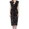 LAUREL velvet wrap dress in black by DIANA ARNO.