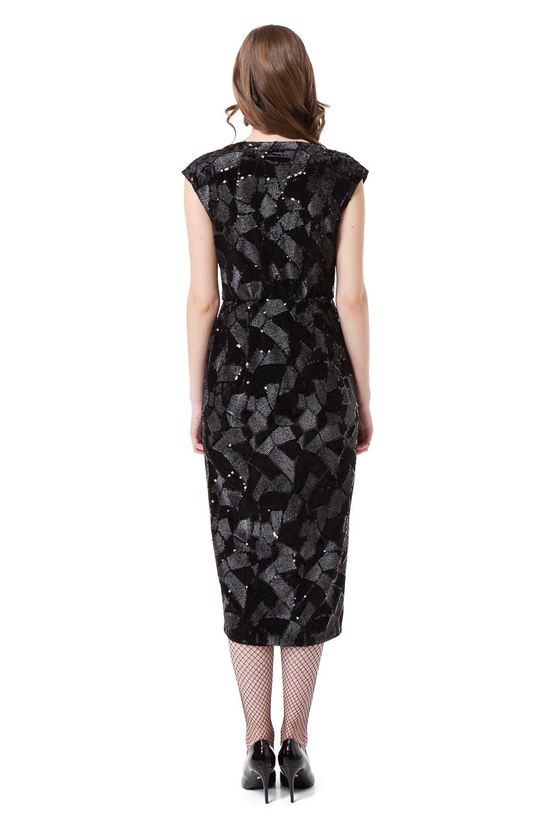 LAUREL velvet wrap dress in black by DIANA ARNO.