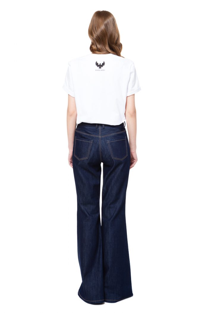 LISE high waisted jeans in dark blue denim by DIANA ARNO.