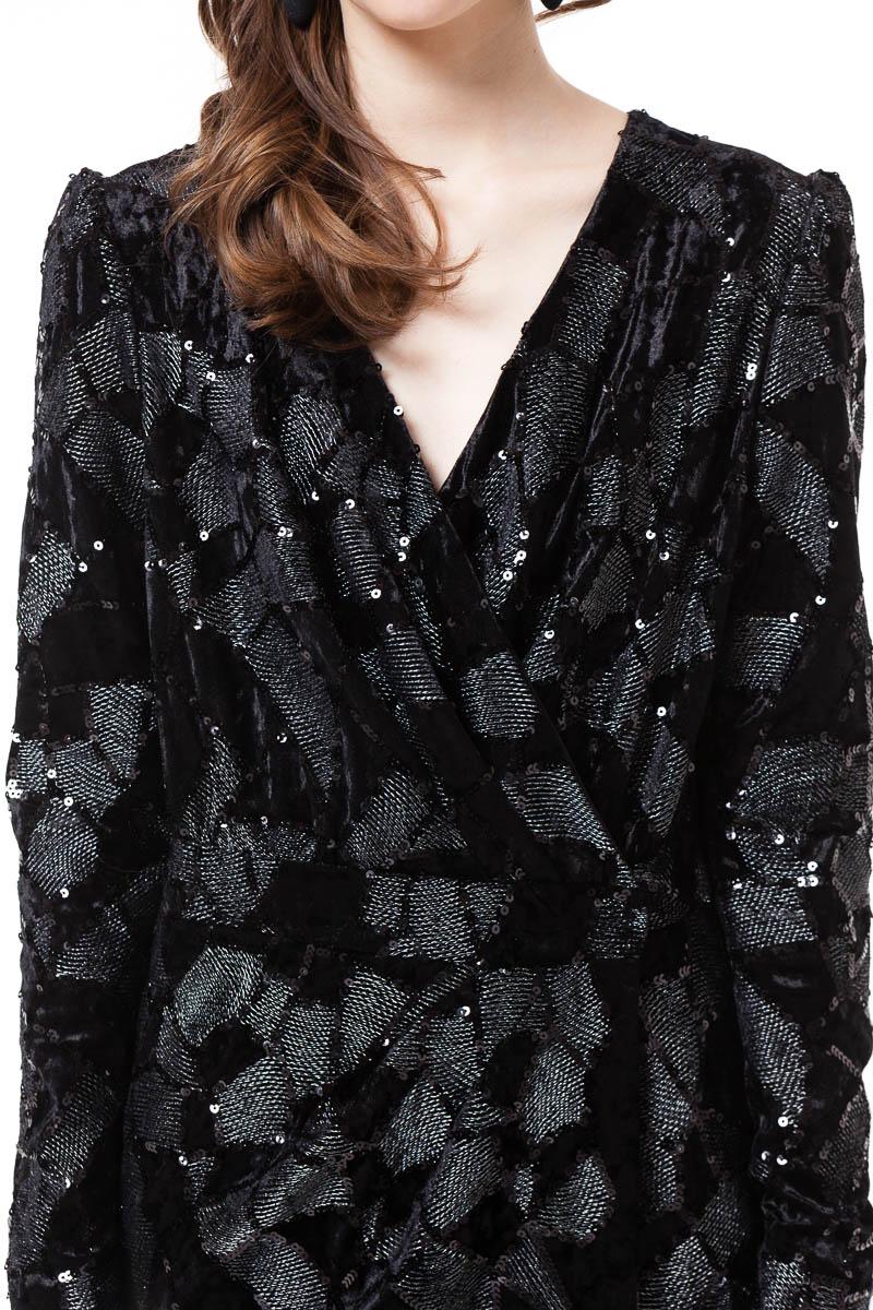 EMILIA velvet maxi dress with long sleeves by DIANA ARNO.