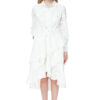 CECELIA denim dress with long sleeves in white.