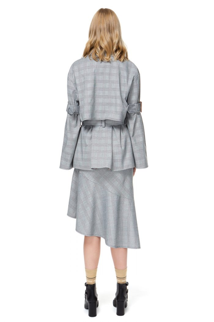 RUBINE oversized jacket with statement flared sleeves.