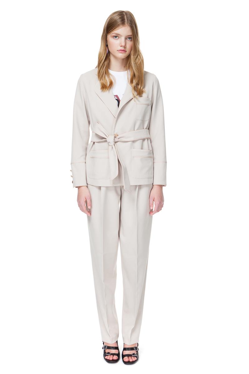 BRENNA pyjama style blazer from buttercream crepe