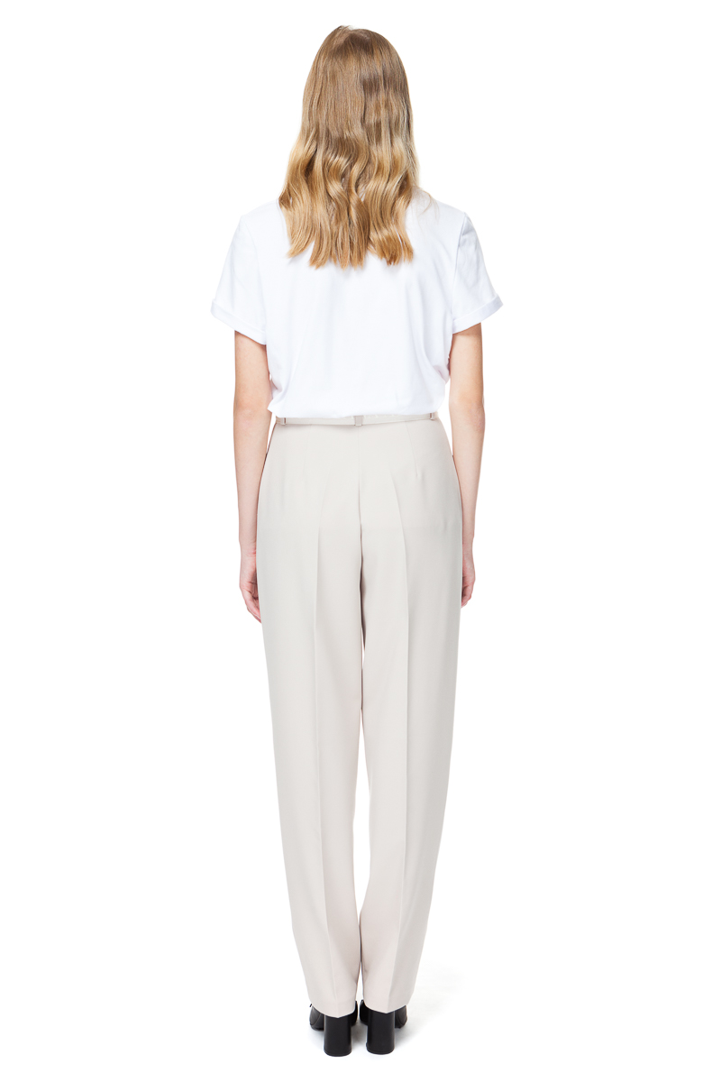 BRIA tailored trousers in buttercream