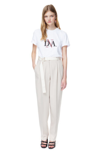 BRIA tailored trousers in buttercream