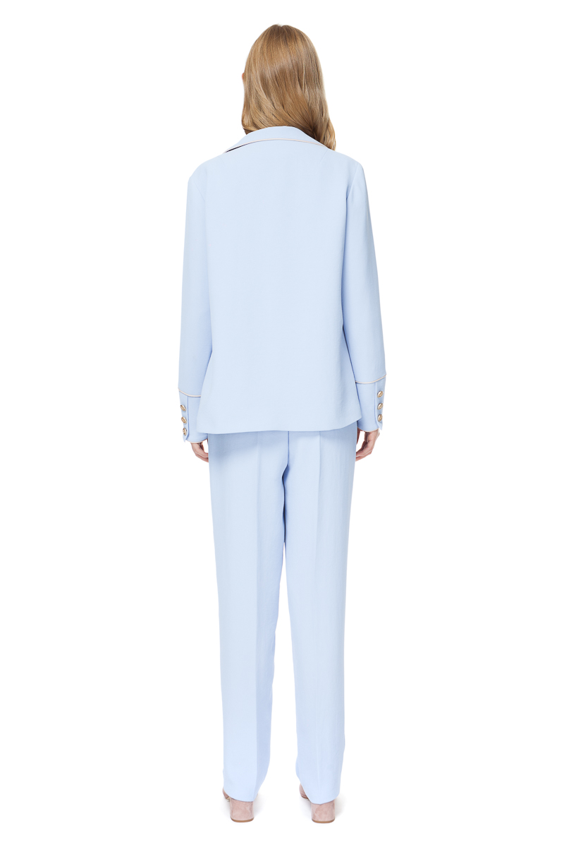BRENNA pyjama style blazer from heavenly blue crepe