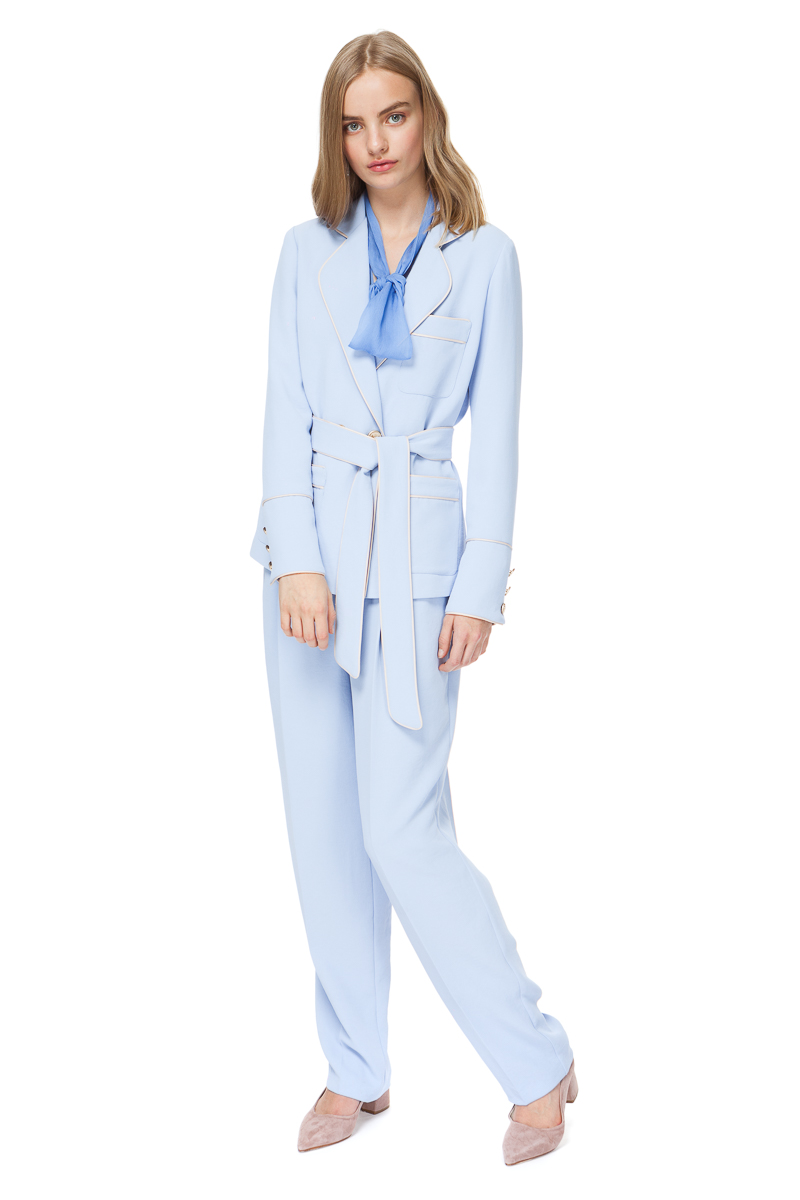 BRENNA pyjama style blazer from heavenly blue crepe