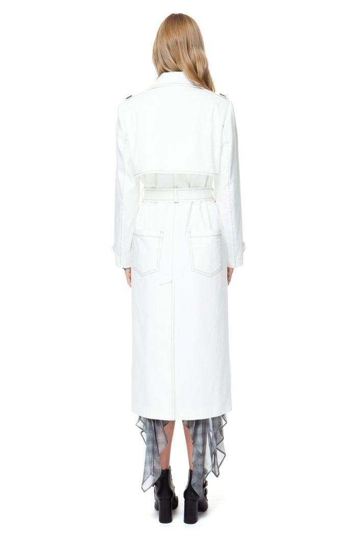 ARIA trench coat in white denim
