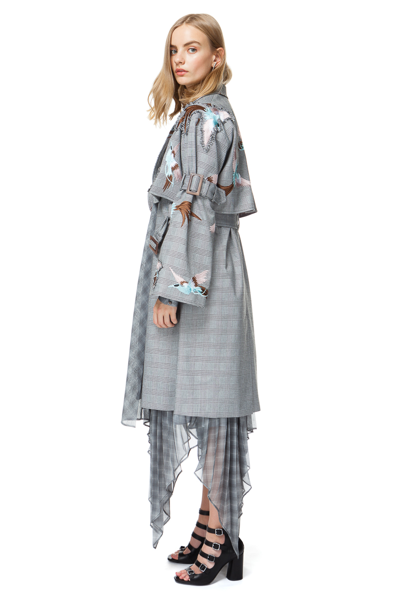 RUBY oversized coat in grey check