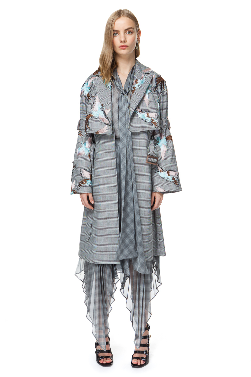 RUBY oversized coat in grey check