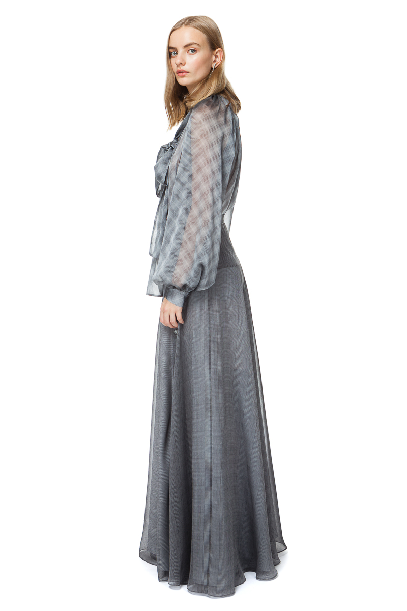 ISABELLE maxi skirt with a side split and buttons.