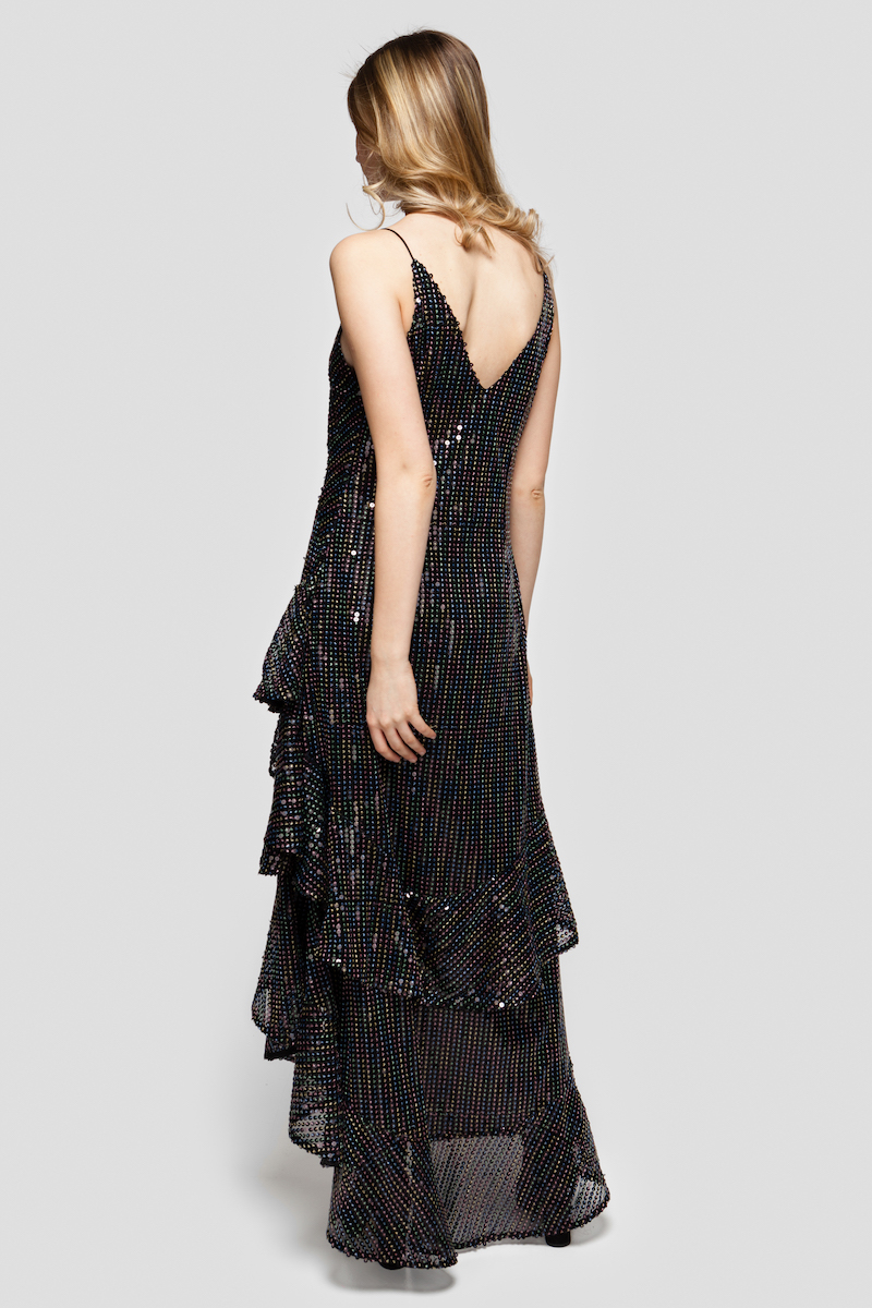 SUSANNA sequin maxi dress
