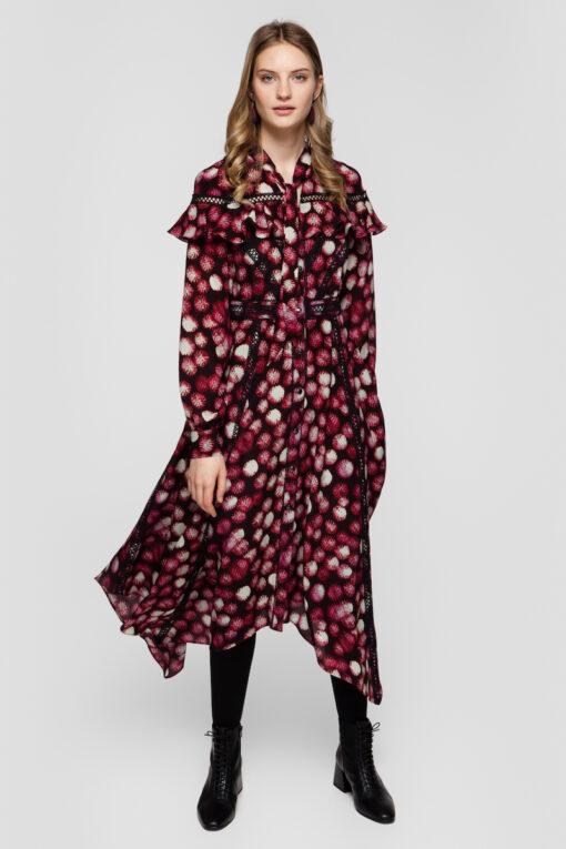 FIONA ruffled midi dress
