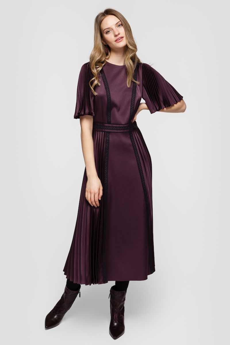 RHODA pleated cocktail dress