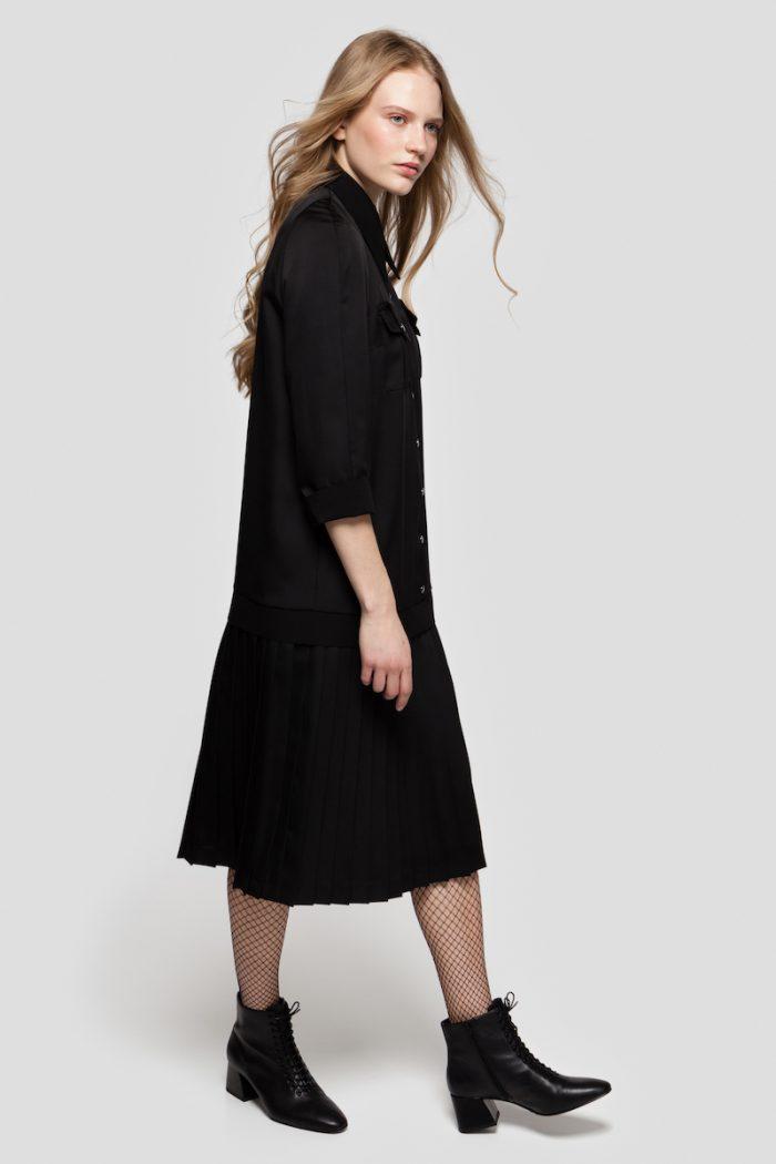 SONIA pleated shirt dress