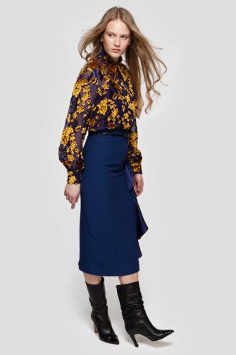 AUDRINE high-waisted pencil skirt