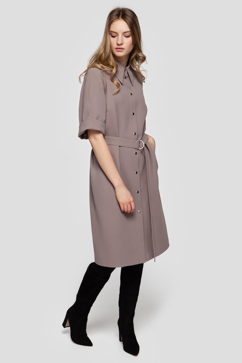 ALICE belted shirt dress