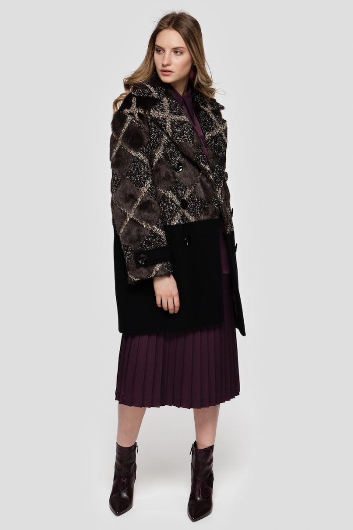 SALLY wool jacket with faux fur