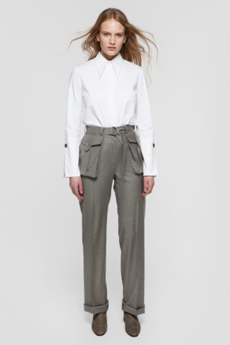 OLIVIA white cotton shirt