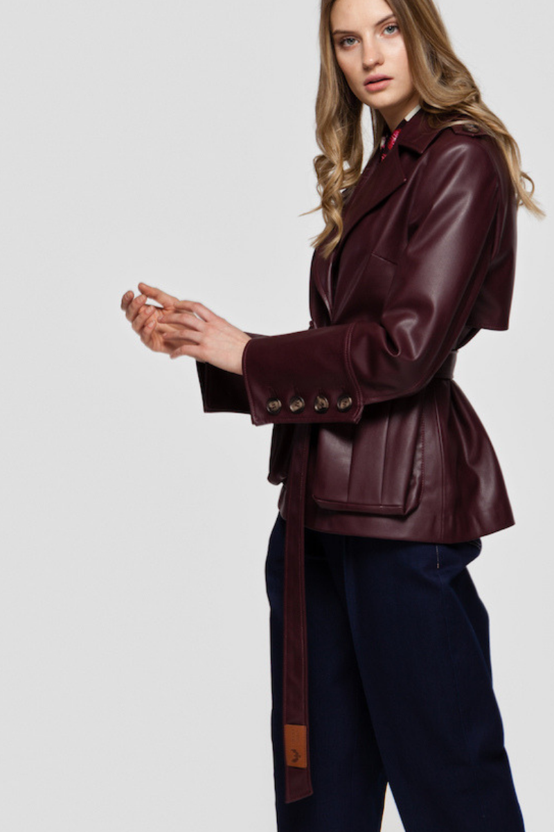 HAYDEN faux leather jacket