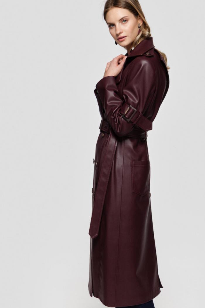 GISELE faux leather coat