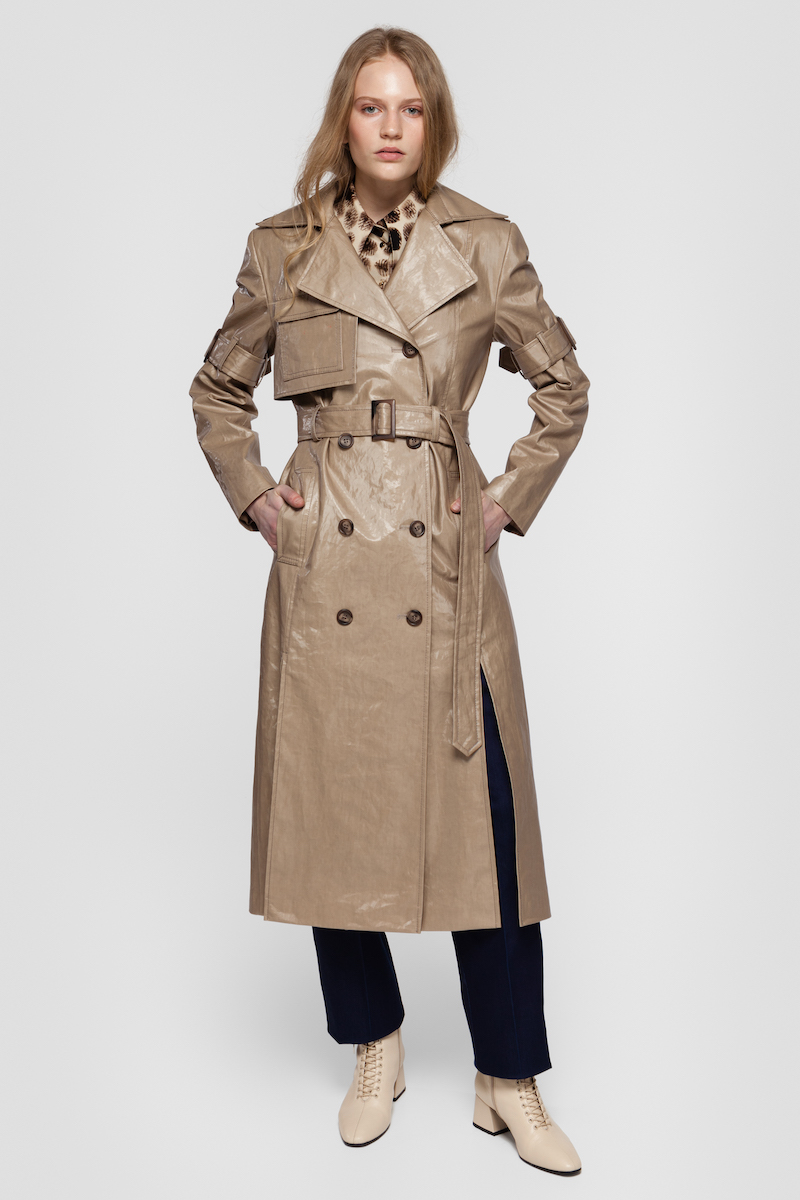 GISELE coated trench coat