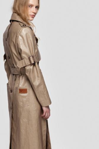 GISELE coated trench coat