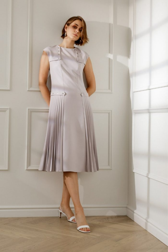BRIGID MIDI COCKTAIL DRESS