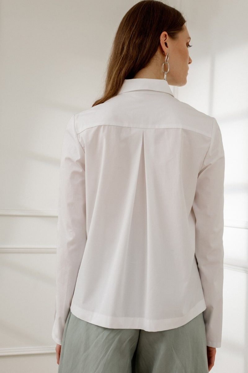 ALEXA POINTED COLLAR WHITE SHIRT