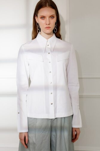 ALEXA POINTED COLLAR WHITE SHIRT