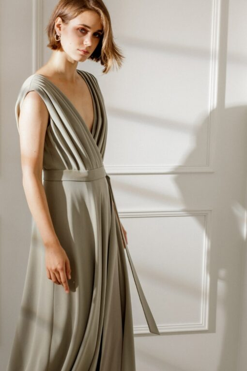 CHLOE DRAPED MAXI DRESS