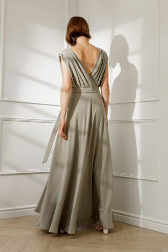 CHLOE DRAPED MAXI DRESS