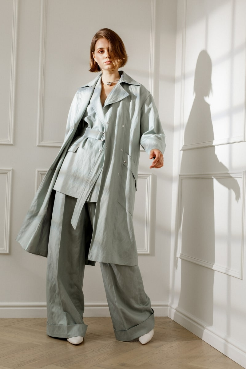 JUDITH COTTON TRENCH IN MINT