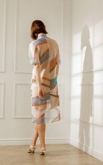 KENDALL TULLE SHIRT DRESS