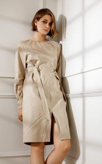 FELICITY LONG SLEEVE COTTON DRESS