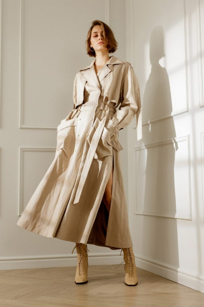 HARPER OPEN-BACK TRENCH COAT