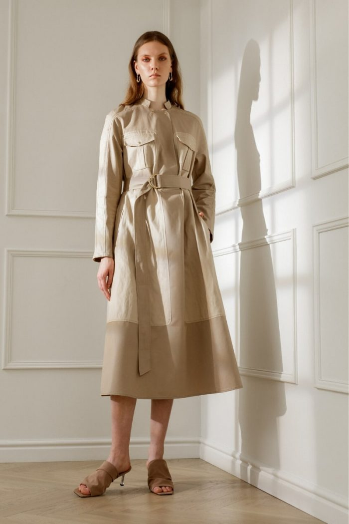 PAGE SANDY BEIGE UTILITY DRESS