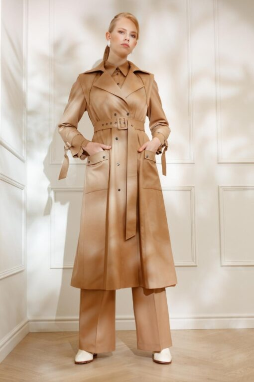 GIA WOOL TRENCH IN SUNNY BEIGE