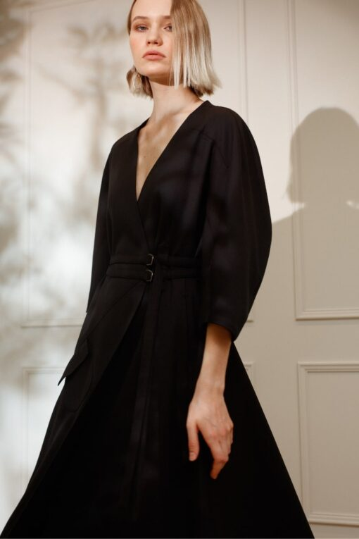 DIANA ARNO IVY WRAP DRESS IN MOONLESS NIGHT